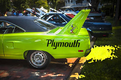 Photograph - 1970 Plymouth Road Runner Hemi Super Bird  by Rich Franco