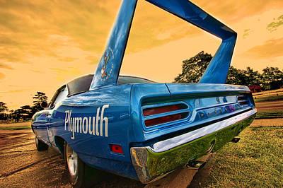 Black Top Digital Art - 1970 Plymouth Road Runner Superbird by Gordon Dean II