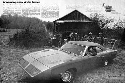 Roadrunner Digital Art - 1970 Plymouth Superbird - Announcing A New Kind Of Runner by Digital Repro Depot
