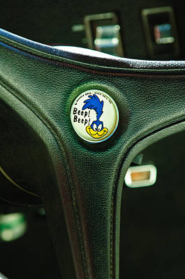 Photograph - 1970 Plymouth Superbird Steering Wheel Emblem by Jill Reger