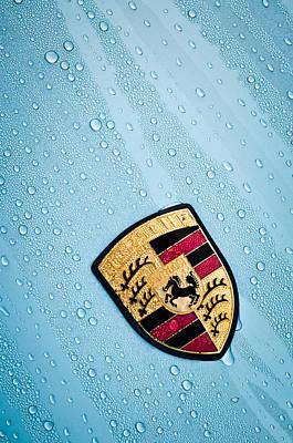 Photograph - 1970 Porsche 911 S Emblem -0151c by Jill Reger