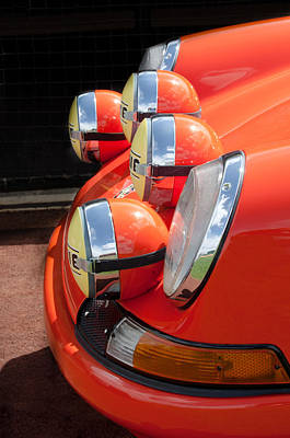 Headlight Photograph - 1970 Porsche 911 T Headlights - 1 by Jill Reger