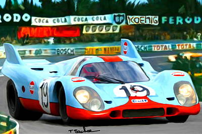 1970 Porsche 917 At Lemans Original