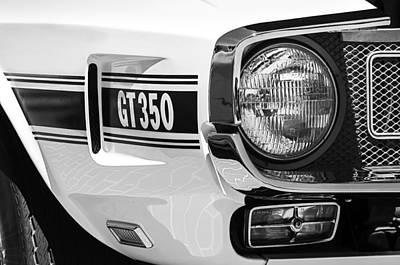 Photograph - 1970 Shelby Gt 350 Fastback Side Emblem by Jill Reger