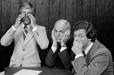 See No Evil Photograph - 1970s Committee Of Three Businessmen by Vintage Images