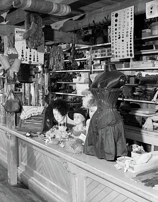 Country Stores Photograph - 1970s Interior Of Farm Museum by Vintage Images