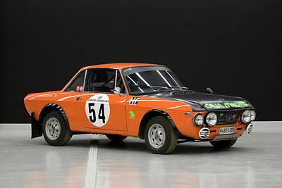 1970`s Lancia Fulvia Hf Rally Car Art Print by Panoramic Images