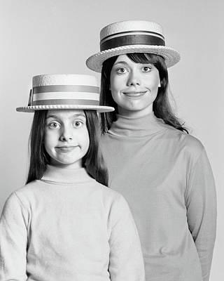 1970s Mother And Daughter Portrait Look Art Print