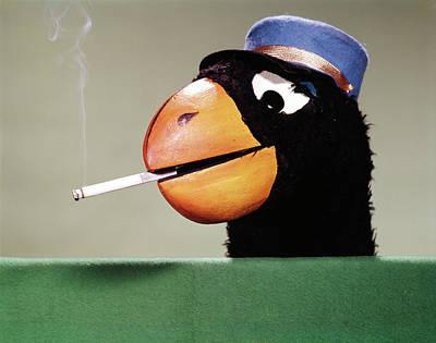 1970s Parrot Head Costume Cigarette Art Print