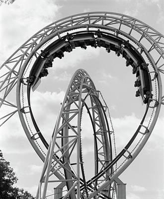 1970s Roller Coaster Amusement Park Ride Art Print
