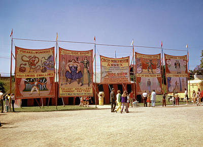 1970s Sideshow Tents Circus World Art Print