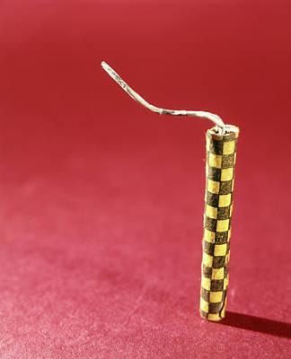 1970s Single Yellow Firecracker Fuse Art Print
