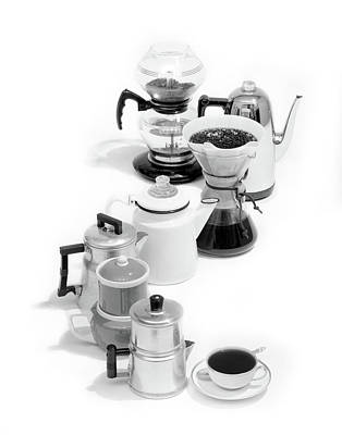 Water Filter Photograph - 1970s Variety Of Coffee Pots Single by Vintage Images