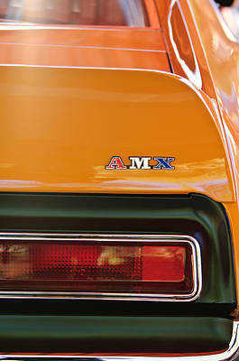 Photograph - 1971 Amc Javelin Amx Taillight Emblem by Jill Reger