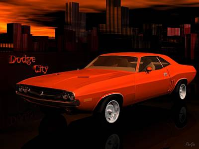 Digital Art - 1971 Challenger by John Pangia