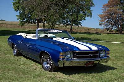 Photograph - 1971 Chevelle Convertible by Tim McCullough