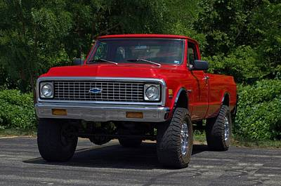 Photograph - 1971 Chevrolet 4x4 Pickup Truck by Tim McCullough