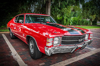 1971 Chevy Chevelle 454 Ss Painted  Art Print by Rich Franco
