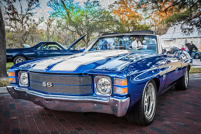 1971 Chevy Chevelle Ss Convertible Ls1 Painted Art Print by Rich Franco