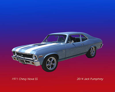 1971 Chevy Nova S S Art Print by Jack Pumphrey