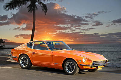 1971 Datsun 240z 'the Legend Begins' Art Print by Dave Koontz