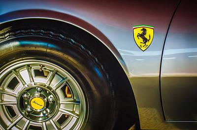 1971 Ferrari Dino Gt Wheel Emblem -027c Art Print