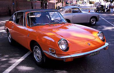 Orange Photograph - 1971 Fiat 850 Spider By Bertone by Rona Black