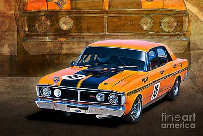 1971 Ford Falcon Xy Gt Art Print