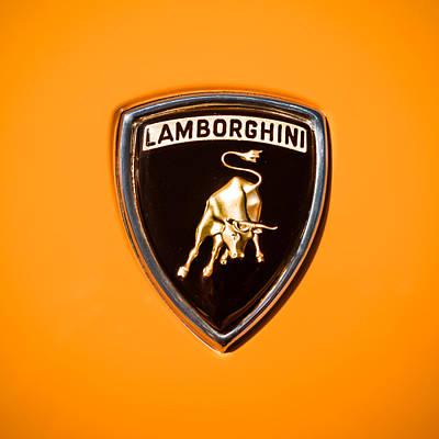 Photograph - 1971 Lamborghini Miura Sv Emblem -0376c by Jill Reger