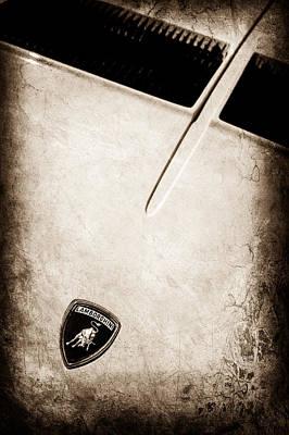 Photograph - 1971 Lamborghini Miura Sv Emblem -0380s by Jill Reger