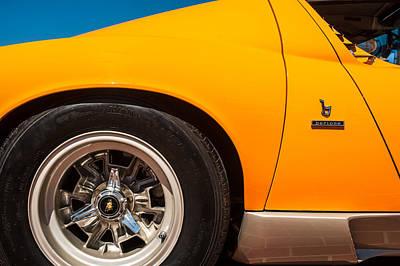 Photograph - 1971 Lamborghini Miura Sv Wheel Emblem -0390c by Jill Reger