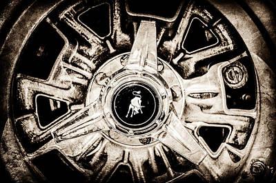 Photograph - 1971 Lamborghini Miura Sv Wheel Emblem -0982s by Jill Reger