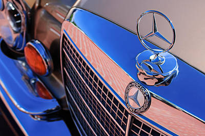 Art Print featuring the photograph 1971 Mercedes-benz 280se 3.5 Cabriolet  by Jill Reger