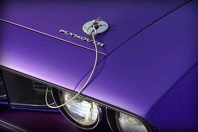 1971 Plum Crazy Purple Plymouth 'cuda 440 Art Print by Gordon Dean II