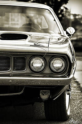 1971 Plymouth Cuda 383 Art Print by Gordon Dean II