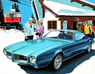 1971 Pontiac Firebird Espirit Art Print