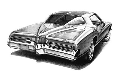 Buick Drawing - 1972 Buick Riviera by Nick Toth