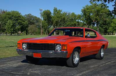 Photograph - 1972 Chevelle Heavy Chevy 454 by Tim McCullough