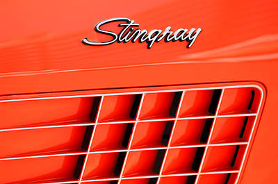 Photograph - 1972 Chevrolet Corvette Stingray Emblem 3 by Jill Reger