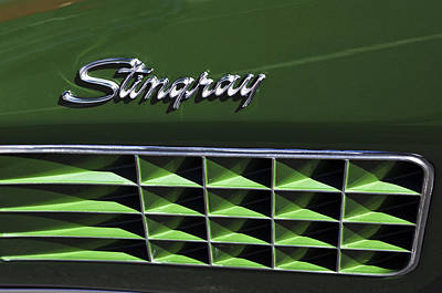 Stingray Photograph - 1972 Chevrolet Corvette Stingray Emblem by Jill Reger