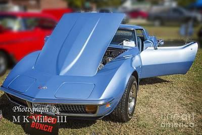 Photograph - 1972 Chevrolet Corvette Stingray In Blue Color 3030.02 by M K Miller