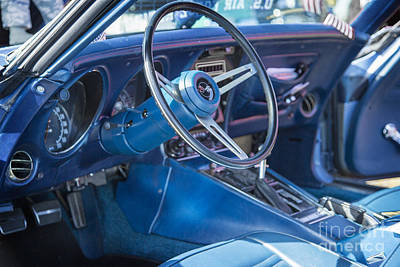 Antique Automobiles Photograph - 1972 Chevrolet Corvette Stingray Interior Blue 3031.02 by M K  Miller