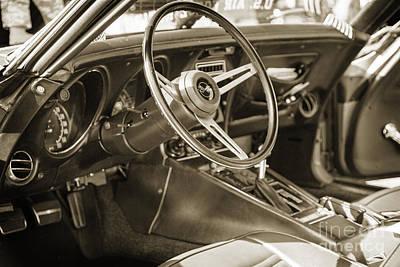 Photograph - 1972 Chevrolet Corvette Stingray Interior Sepia 3031.01 by M K Miller
