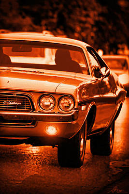 Photograph - 1972 Dodge Challenger In Orange by Gordon Dean II