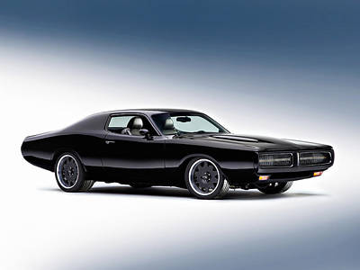 Old Hotrod Photograph - 1972 Dodge Charger by Gianfranco Weiss