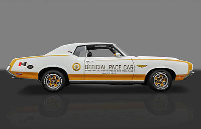Photograph - 1972 Hurst Olds Pace Car-1 Of 220 by Frank J Benz