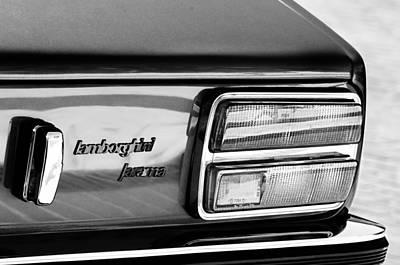 Photograph - 1972 Lamborghini Jarama 400 Gt Taillight Emblem by Jill Reger