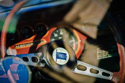 Photograph - 1972 Lancia Fulvia Steering Wheel Emblem -0435c by Jill Reger