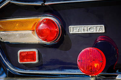 Photograph - 1972 Lancia Fulvia Taillight Emblem -0418c by Jill Reger