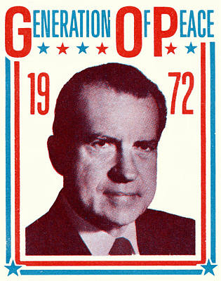 Conservative Painting - 1972 Nixon Presidential Campaign by Historic Image